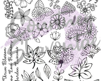 Floral Foil Designs for Resin Epoxy Inserts Crafting Ideas Holographic Chrome Flower Garden