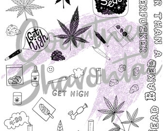 Stoner 420 Resin Foil Inserts For Epoxy craft Ideas