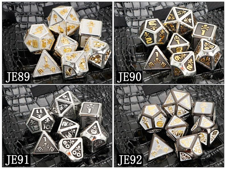 Skull diceDND Dice Set  Metal Dice  RPG Dice  D/&D Dice  Tabletop Dice  Polyhedral Dice  Dungeons and Dragons  D4 D6 D8 D10 D12 D20