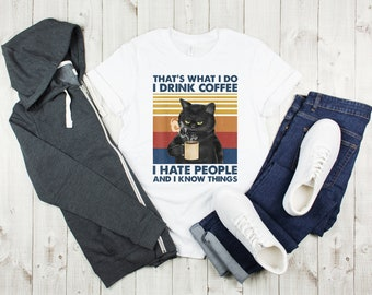 I Do What I Want Mean Cat Hand Draw Funny Cat Gift Unisex T-Shirt Shirt Gift For Men Women Hoodie Sweatshirt Kid T-Shirt