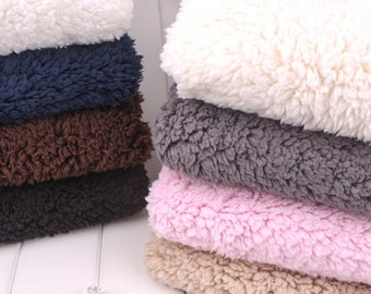 Lamb Velvet Fabric, Cotton Plush Fabric,Soft Fabric, Thick Fabric, Winter Fabric, Lamb Faux Fur, Warm Fabric, By The Half Yard