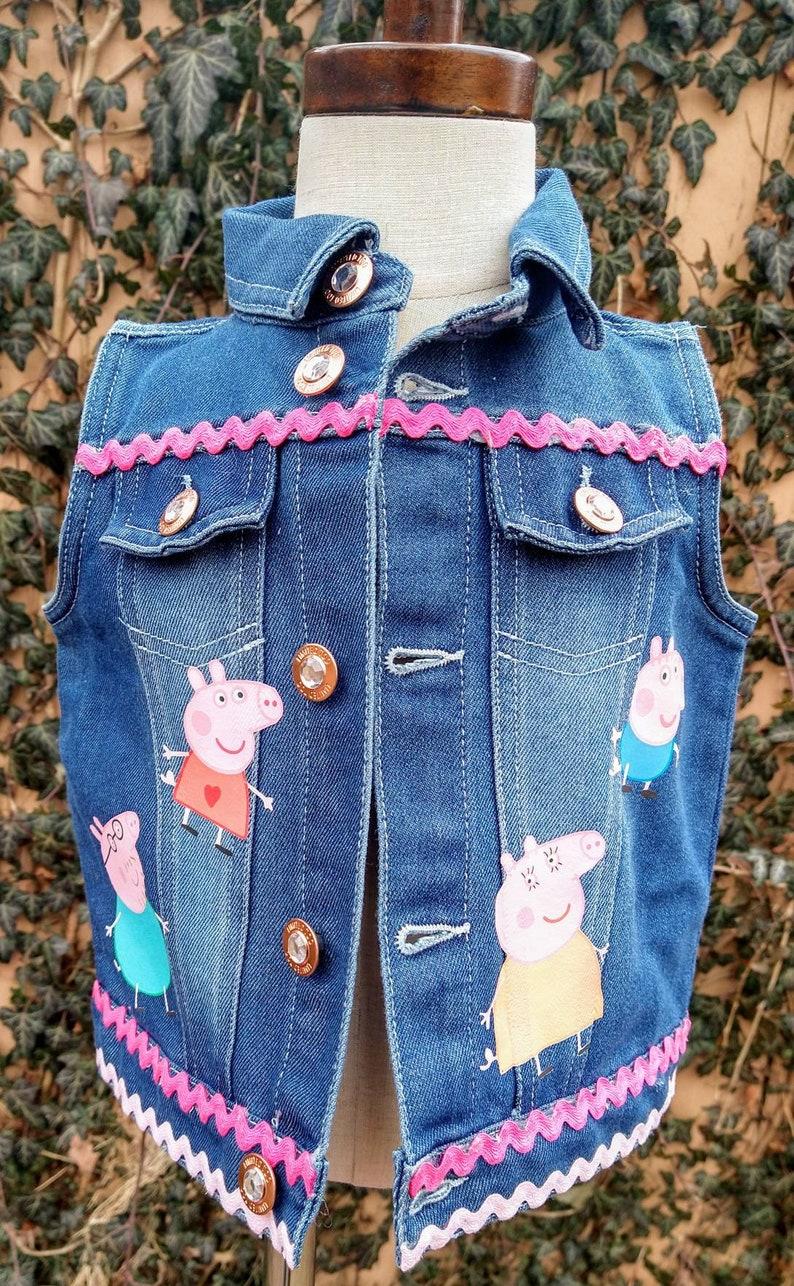 Denim Jacket Peppa Pig Denim Jacket Customized Denim Jacket