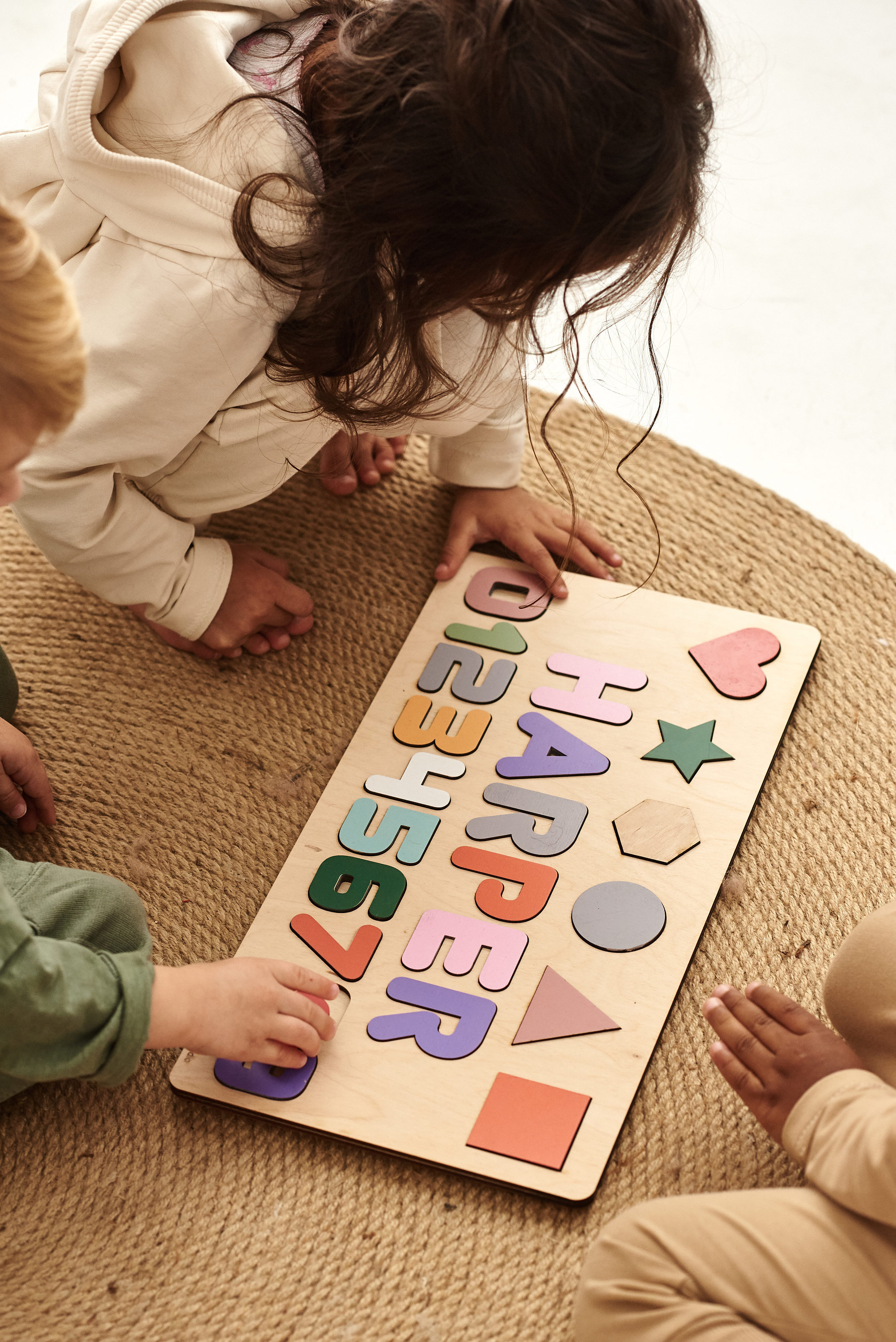 Busy Board Personalized Name Wooden Sign Newborn Puzzle with Shapes Numbers  and Figures Montessori Toys   Kids Gifts