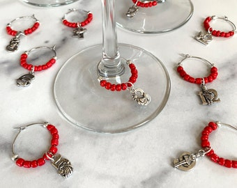 Wine Glass Charms—12 Days of Christmas Assorted Charms (Set of 12)
