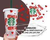 Valentines day Starbucks coffee CUT file, Bandaid Nurse Starbucks, Doctor Medical Full Wrap Hearts Starbucks Coffee SVG file, Cricut DIY