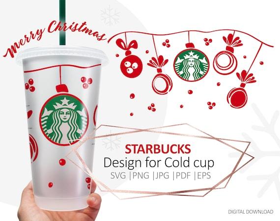 St Patricks day shamrock svg Full wrap Starbucks cold cup SVG