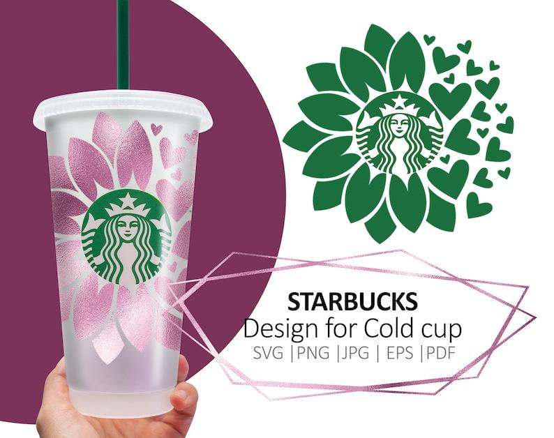 Download Starbucks sunflower Daisy heart svg Sunflower cup svg | Etsy