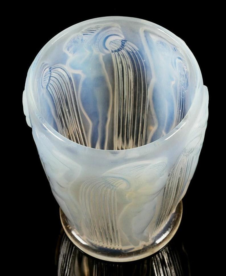 R. Lalique Danaides Opalescent Glass Vase