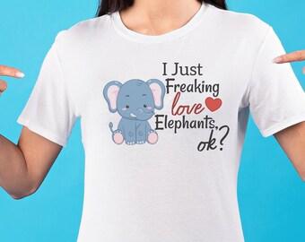 I just freaking love (choose animal), ok? T-shirt