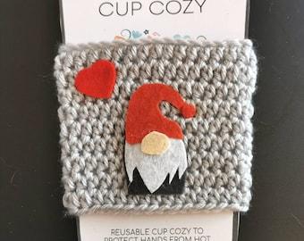 Travel Mug Cosy Gnome Cup Cosy Gnome Coffee Cup Cosy Coffee Cup Cozy Hygge Cup Cozy Gonk Gnome Travel Mug Cozy