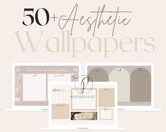 50+ Aesthetic Minimalist Wallpaper Desktop Organiser   Macbook Laptop, Calendar 2021, Natural pink beige nude green grey Quotes Mac Windows