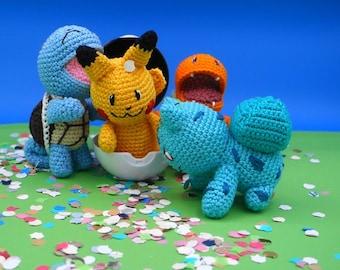 Pokémon ~ Starter Pack + Pikachu au crochet ~ Tutoriel