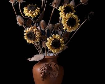 Sunflower Display -photographic print - still life