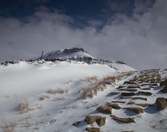 Penyghent in Winter - photographic print | Yorkshire Dales Three Peaks