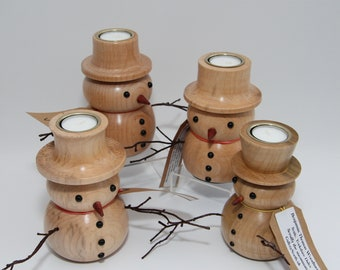 Snowman Candle T Light For Christmas - Large