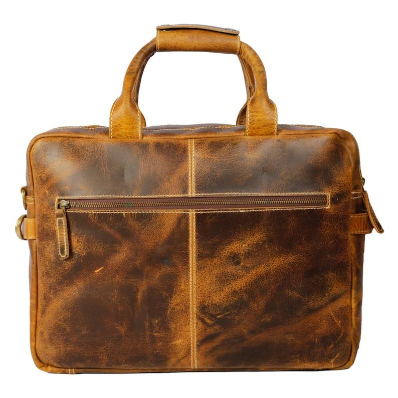 Buffalo Leather Pilot Bag Messenger Bag Laptop flight office Travel Bag Lifetime Warranty