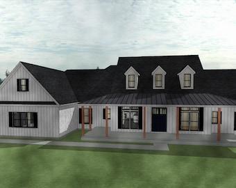 Modern Farmhouse plan of your dreams with bonus room Farm House rustic bonus farmlife blueprint build draft