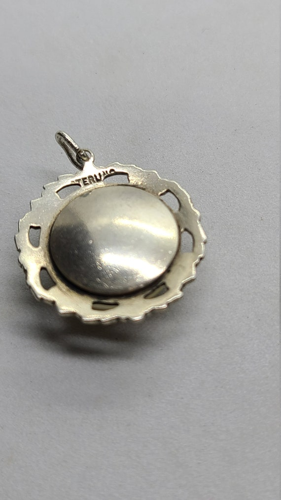 Vintage Sterling Silver Synthetic Yellow Pearl Pe… - image 3