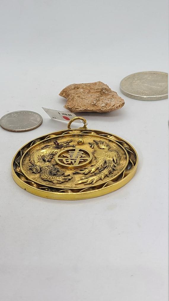 Vintage Dragon Medallion