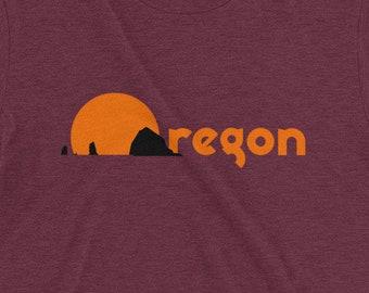 Oregon Coast | T-shirt | Retro | Short-Sleeve | Tri-Blend