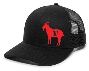 Mike Trout GOAT MT Trout Logo (Los Angeles Anaheim Colors) MVP Premium SnapBack Hat
