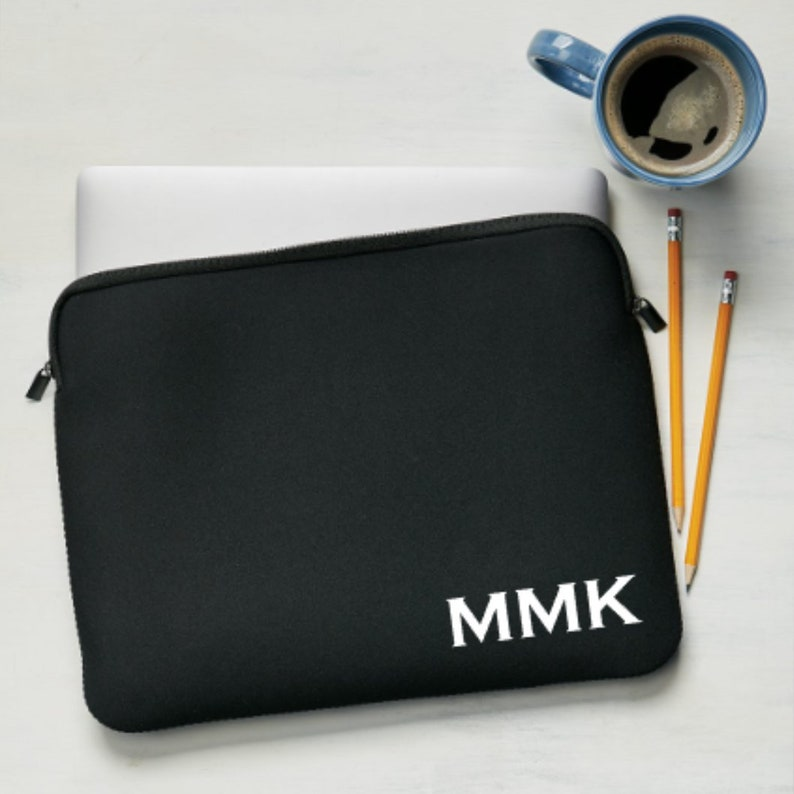 15 Inch Black Personalized Laptop Sleeve  Custom Tablet Sleeve  Laptop Bag 15
