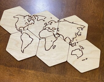 Laser Cut Coasters Engraved With Africa Map..
