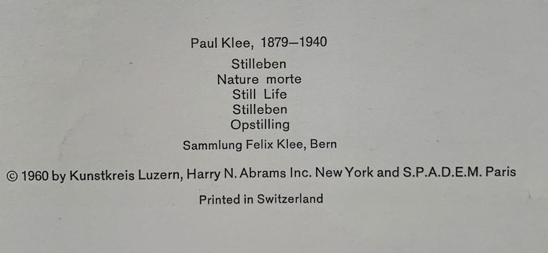 1960 Paul Klee Rare LITHOGRAPH Large size:35,5x43cm