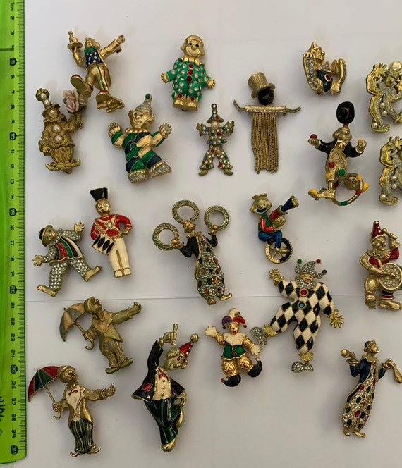 Collection of circus brooches