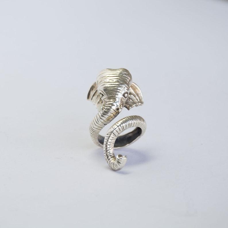 Handmade Elephant Ring Silver Rare Elephant Ring Animal Ring 92.5 Silver Animal Jewelry Silver Jewellery Dainty Ring Free Size Ring