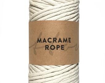 Rope Chunky Yarn Single Twist 5mm Macrame Yarn 150m Cashmere 1kg Super Soft 100/% Recycled Cotton Single Strand Cord