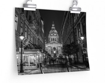 St. Stephen's at Night, Budapest (2017) Print
