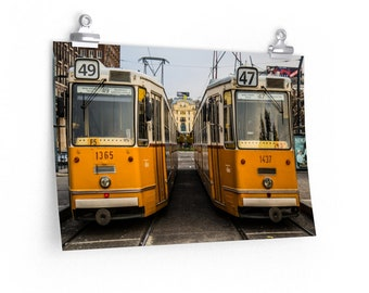 Streetcars in Budapest (2017) Print