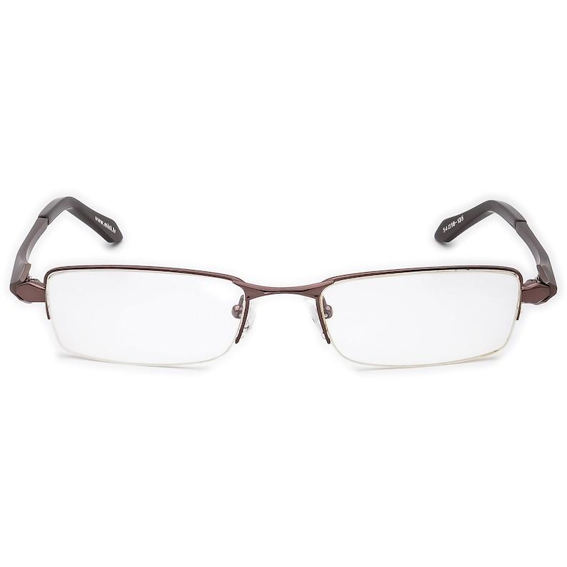 18 135 Mikli Eyeglasses Brown Half Rim Metal Frame France 54