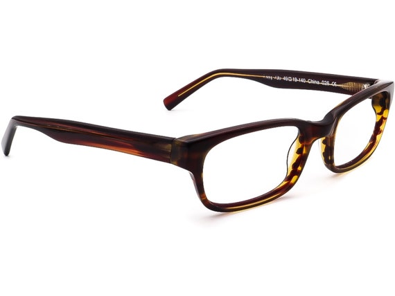 Warby Parker Eyeglasses Zagg 230  Brown Rectangul… - image 1