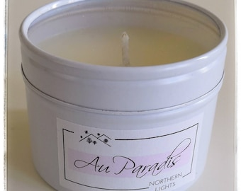 Candle scented with rapeseed wax, souvenir of holiday in paradise