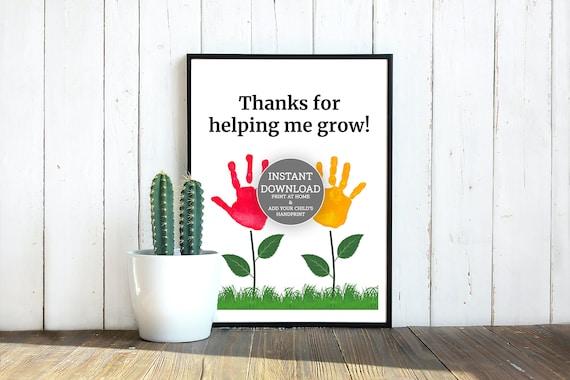 Kids Handprint Printable Craft  Kids Handprint Flower Gift