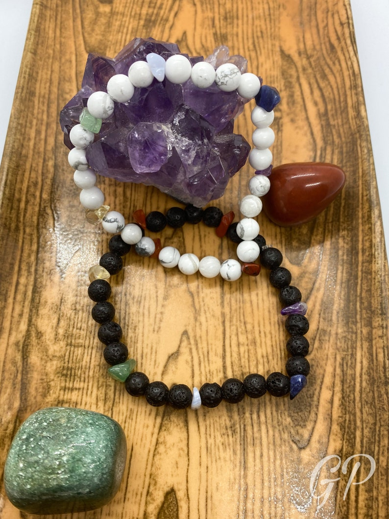 Chakra bracelet made of gemstones Yoga Meditation