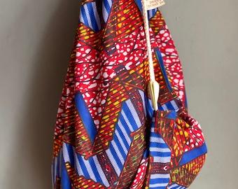 Handmade for camping Waxed cotton drawstring tent peg bag
