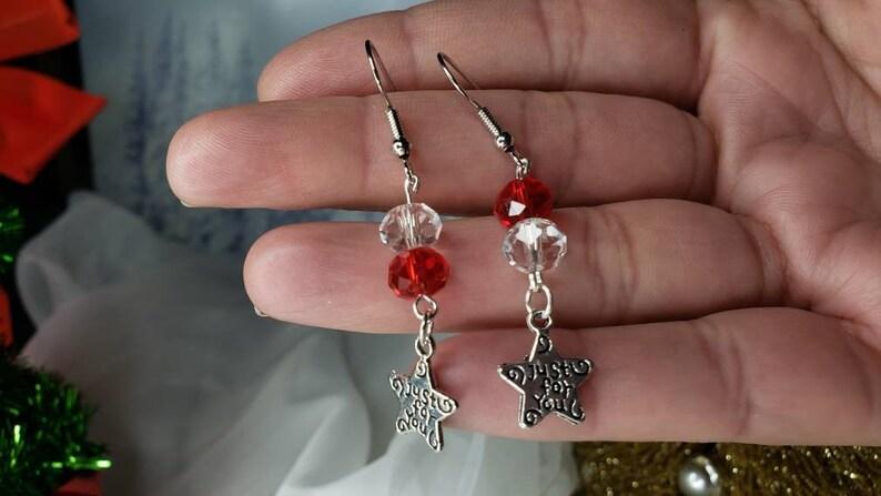 Season/'s Star Crystal Bead Healing Earrings