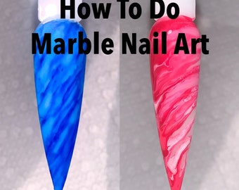 Online Nail Tutorial: 5 EASY ways to do Marble Nails - Marble Nails - Nail Tutorial - How to do Marble Nail Art - Nail Class