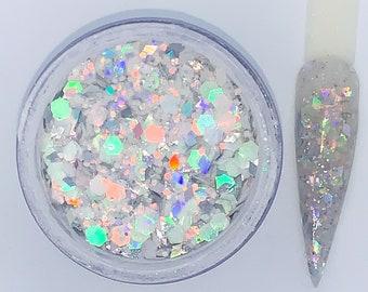 Diamond Ring Acrylic Nail Powder- Glitter Acrylic Powder - Nail Glitter