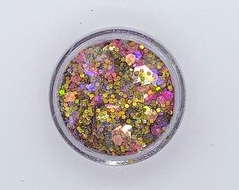 Chunky Nail Glitter Mix (Vision of Love )- Nail Glitter-  Glitter - Gold Nail Glitter