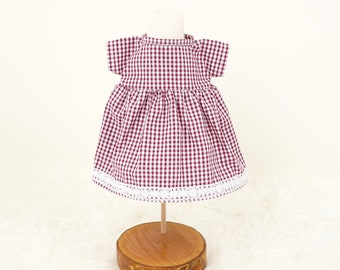 """Romantic doll dress for rag doll """"Olivia"""", as a change outfit or combinable with an """"Olivia"""" of your choice"""
