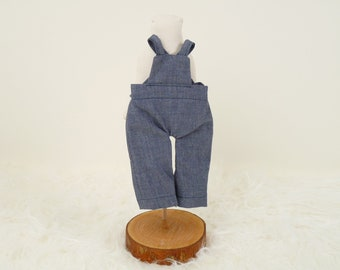 Doll outfit dungarees for Oliver, dungarees for boy doll