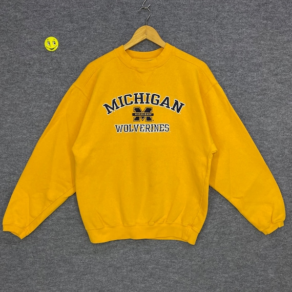 90s mdot Michigan Department of Transportation graphic blue pullover sweatshirt size L made in usa vtg vintage
