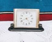 Old Soviet alarm clock Mechanical clock Desk alarm clock Slava Vintage table clock made in USSR un 1960s. Russian Alarm Clock