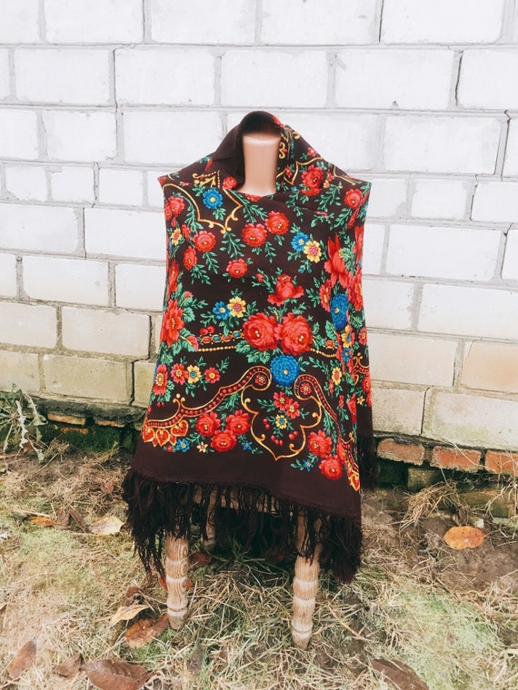 Sarf Russian shawl shawl Ukrainian shawl Wool Shaw