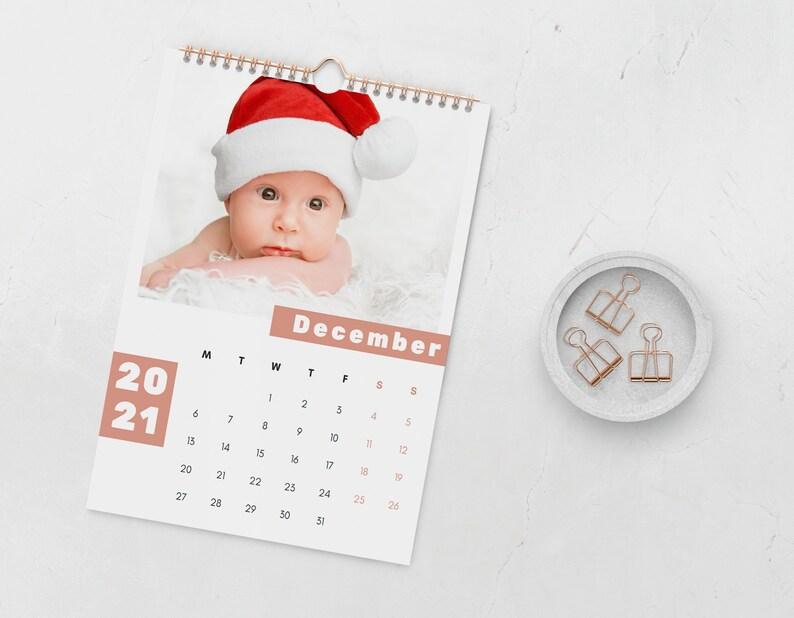 2021 Calendar Template Baby Canva Wall Calendar Template ...