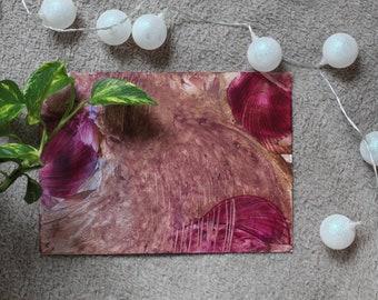 BEST SELLER Encaustic Wax Original Art Card Poppy Downs Landscape style